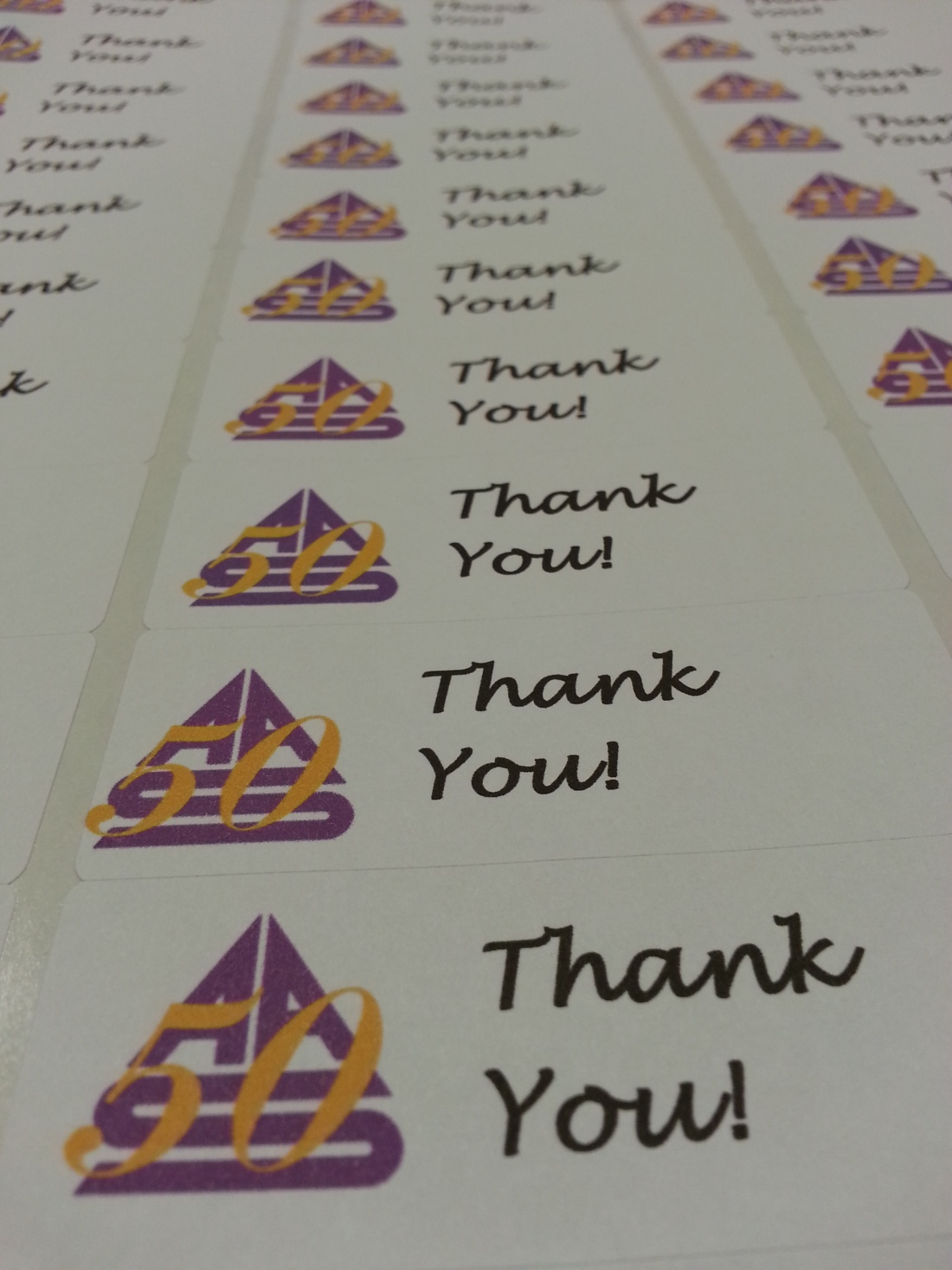 AAS Thank-You Stickers
